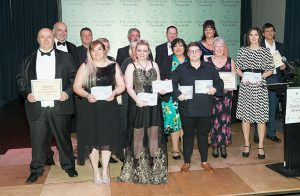 The amazing 2019 Dyslexia Awards Finalists with certificates and trophies